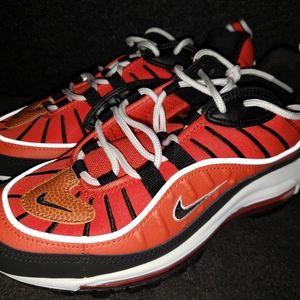 Nike Air Max 98 GS Size 6.5Y Grade School Red/Blk